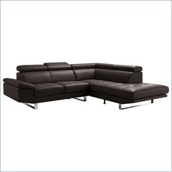 Moe's Andreas Right Sectional in Dark Brown