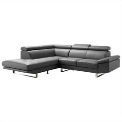 Moe's Andreas Left Sectional in Gray