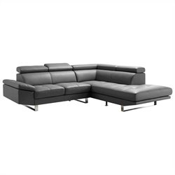 Moe's Andreas Right Sectional in Gray