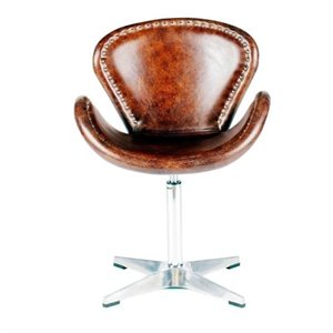 Moe's Brighton Upholstered Egg Chair in Brown