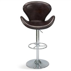 BRIGHTON ADJUSTABLE STOOL BROWN
