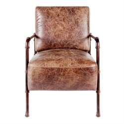 Moe's Livingstone Club Chair in Brown
