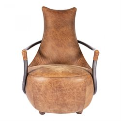Moe's Carlisle Leather Club Chair in Brown