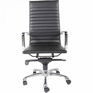 Moe's Omega High Back Office Chair in Black