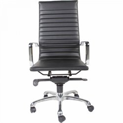 Moe's Omega High Back Office Chair in Black (Set of 2)