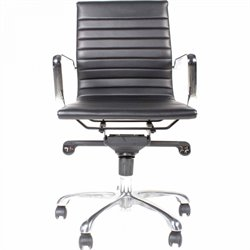 Moe's Omega Low Back Office Chair in Black (Set of 2)