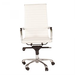 Moe's Omega High Back Office Chair in White (Set of 2)