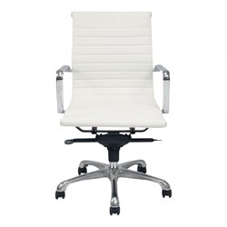 Moe's Omega Low Back Office Chair in White (Set of 2)