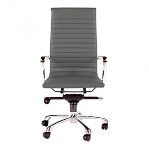 Moe's Omega High Back Office Chair in Gray
