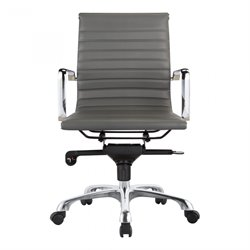 Moe's Omega Low Back Office Chair in Gray (Set of 2)