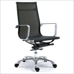 Moe's Sigma High Back Office Chair in Gray (Set of 2)
