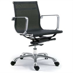 Moe's Sigma Low Back Office Chair in Gray (Set of 2)