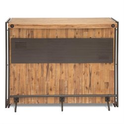 Moe's Brooklyn Bar Cabinet in Dark Brown - Small