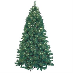 Jeco 7.5' Pre-Lit Artificial Christmas Tree With Metal Base