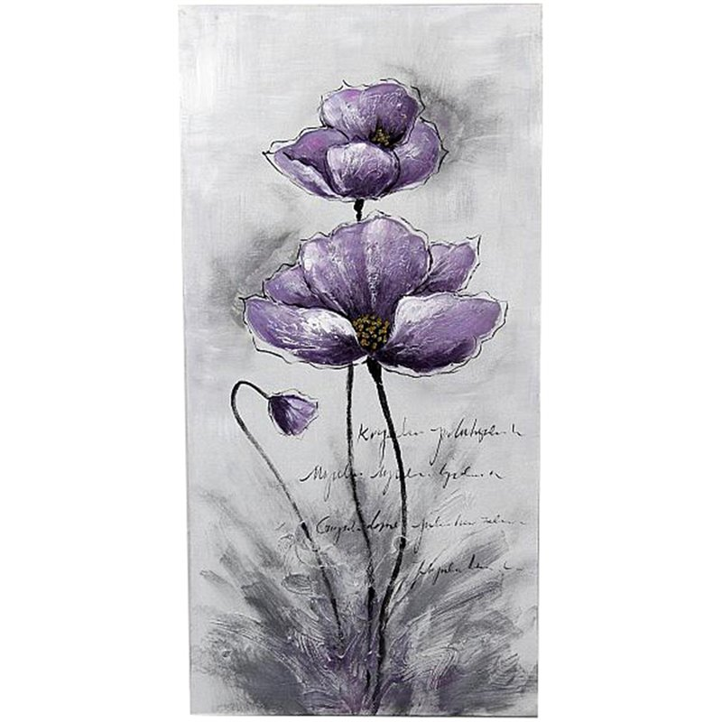 Jeco Floral and Botanical Canvas Art in Purple and Black