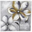 Jeco Floral and Botanical Canvas Art in Gray and White
