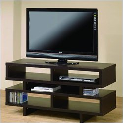 Jeco Santiago TV Stand in Brown