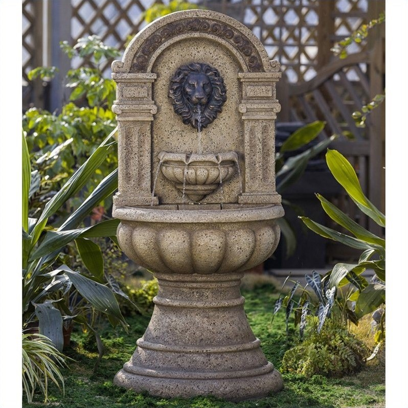 Jeco Classic Lion Head Wall Water Fountain Fcl072