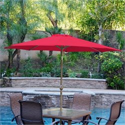 9' Aluminum Market Patio Umbrella with Crank (94)