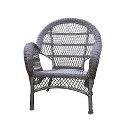 Jeco Wicker Chair in Espresso