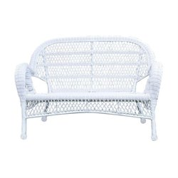 Jeco Wicker Patio Loveseat in Espresso