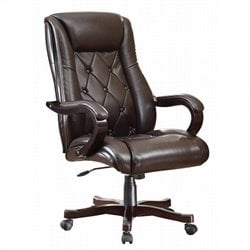 Executive Office Chair In Espresso Finish