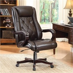 INSPIRED by Bassett Chapman Executive Office Chair In Espresso Finish