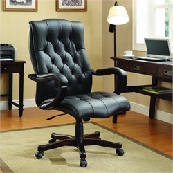 INSPIRED by Bassett Dixon Executive Office Chair In Espresso Finish