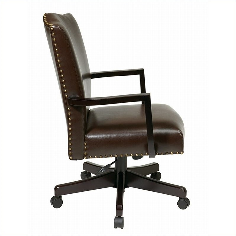 INSPIRED by Bassett Morgan Manager's Office Chair In Espresso Finish
