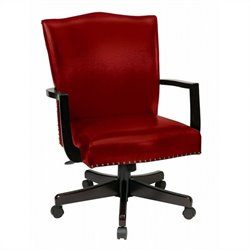 INSPIRED by Bassett Morgan Manager's Office Chair In Crimson Finish