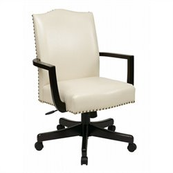 INSPIRED by Bassett Morgan Manager's Chair In Cream Finish
