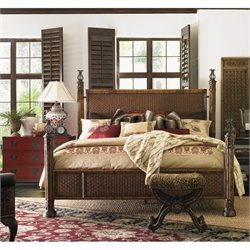 Henry Link Somers Isle Rattan California King Bed in Golden Bamboo