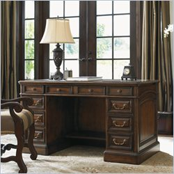Sligh Breckenridge Highlands Pedestal Desk in Briarwood