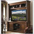 Sligh Breckenridge TV Stand with Hutch in Briarwood