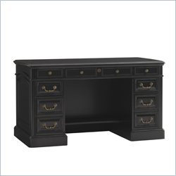 Sligh Breckenridge Highlands Pedestal Desk in Weathered Black