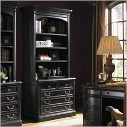 Sligh Breckenridge Keystone File Cabinet with Hutch in Weathered Black