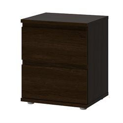 Tvilum Bright 2 Drawer Nightstand in Coffee