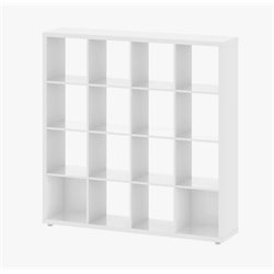 Tvilum Hamilton 16 Shelf Bookcase in White High Gloss