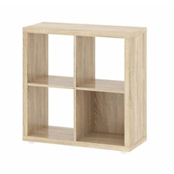 Tvilum Hamilton 4 Shelf Cube Bookcase in Oak Structure