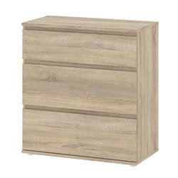 Tvilum Connect 3 Drawer Wide Chest in Oak Structure