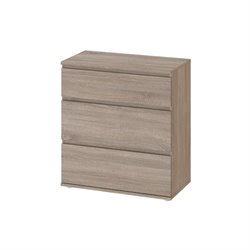 Tvilum Connect 3 Drawer Wide Chest in Truffle