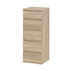 Tvilum Connect 5 Drawer Narrow Chest in Oak Structure