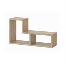 Tvilum Aurora 2 Shelf Bookcase in Oak Structure
