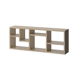 Tvilum Aurora 7 Shelf Bookcase in Oak Structure