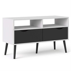 Tvilum Diana TV Stand in White and Black Matte