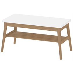 Tvilum Retro Coffee Table in White and Solid Oak