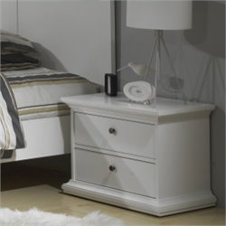 2 Drawer Nightstand in White