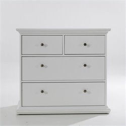 Tvilum Sonoma 4 Drawer Chest in White