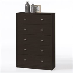 Tvilum Portland 5 Drawer Chest in Coffee