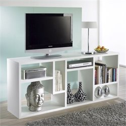 Bookcase TV Stand in White